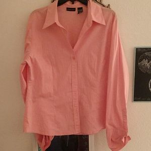 Pink New York and Company Button down